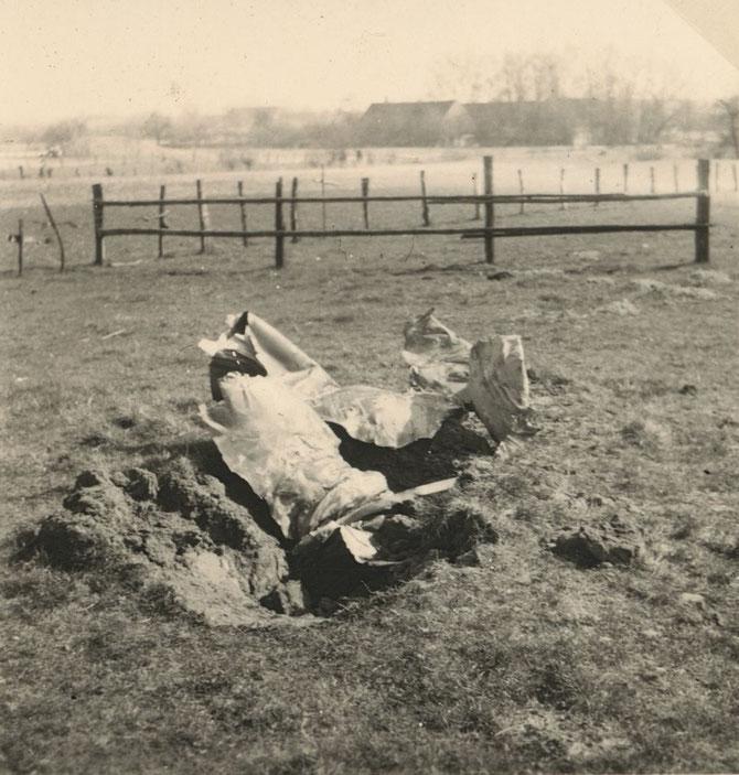 Abgestürzter Jäger am 26.11.1944