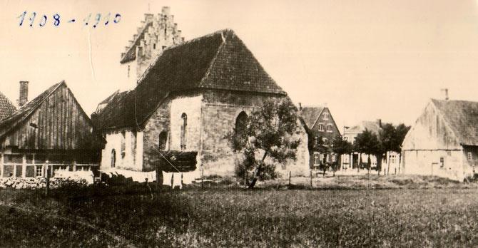 Alte Kirche mit Platz für die neue Kuppel.