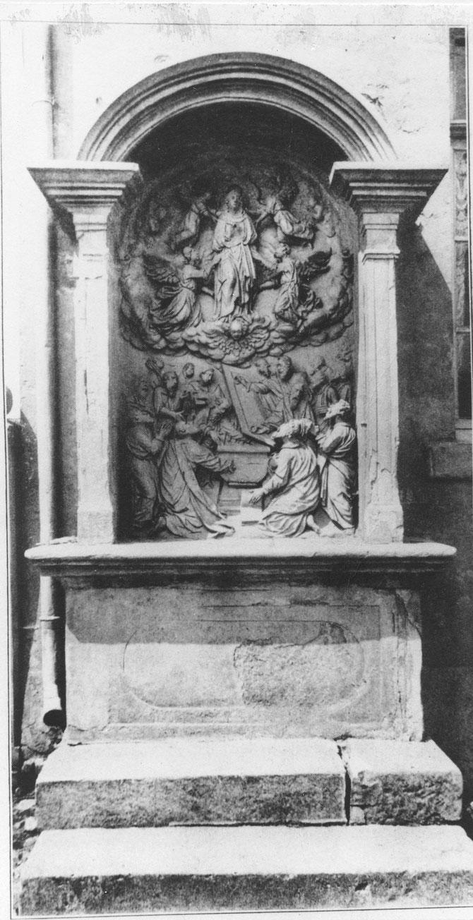 Der Bildstock am alten Standort bis 1936.
