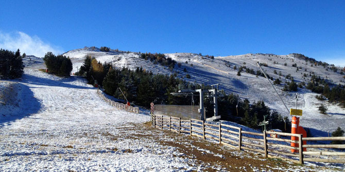 soleil sur la station de ski de Camurac