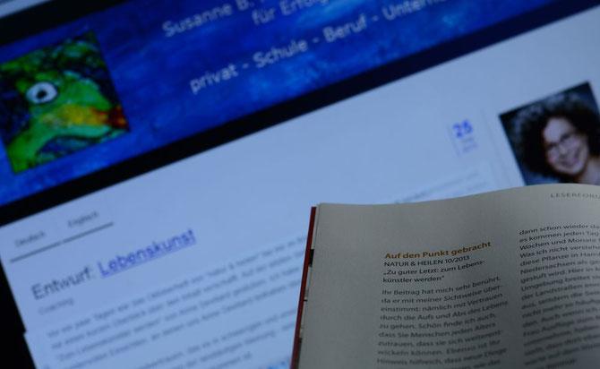"""Mein Leserbrief zu """"Zum Lebenskünstler werden"""" - natur & heilen Januar 2014"""