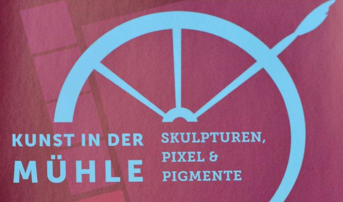 Kunst in der Mühle - Skulpturen, Piexel & Pigmente (Ausschnitt aus Flyer)
