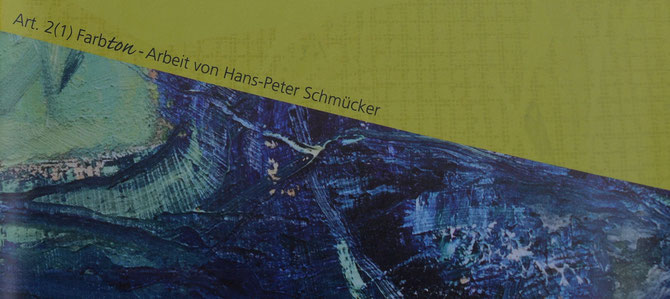 Farbton - Art. 2(1) - Ausschnitt vom ARThaus-Flyer (gestaltet von Kristin Wicher)