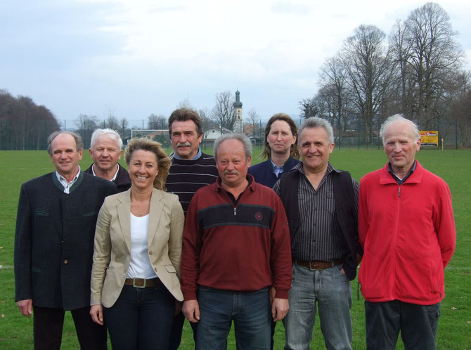 von links: Tobias Selbherr, Rudi Killer, Marita Vogt, Roland Kulas, Marinus Bauer, Christine Gschwendtner, Sepp Bernöcker, Hans Perau.