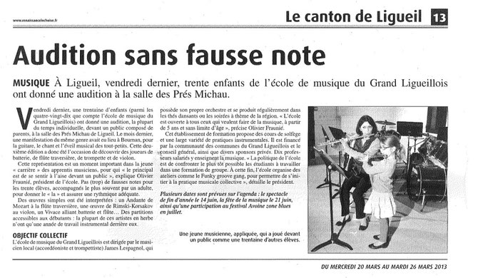 Article Renaissance 20 mars 2013
