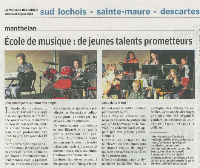 Ecole de musique : de jeunes talents prometteurs