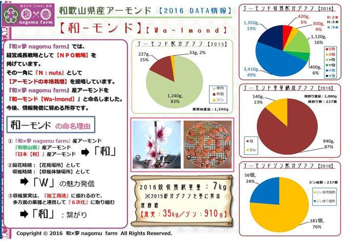『和ーモンド【almond】』データ分析 情報開示 和×夢 nagomu farm