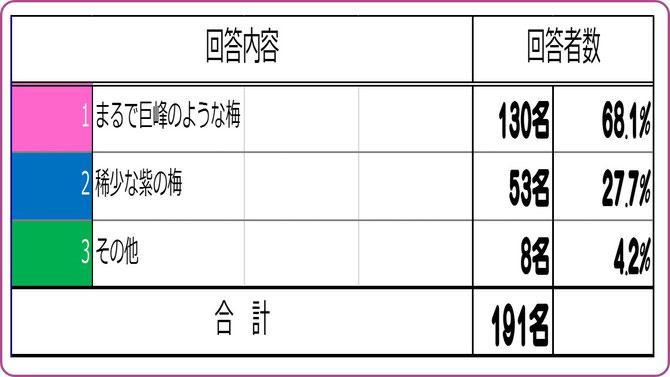 大阪樟蔭学祭アンケート【2015B】 ミスなでしこキャッチフレーズは? 集計結果