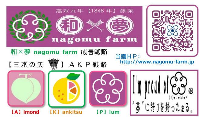 和×夢 nagomu farm名刺【裏】