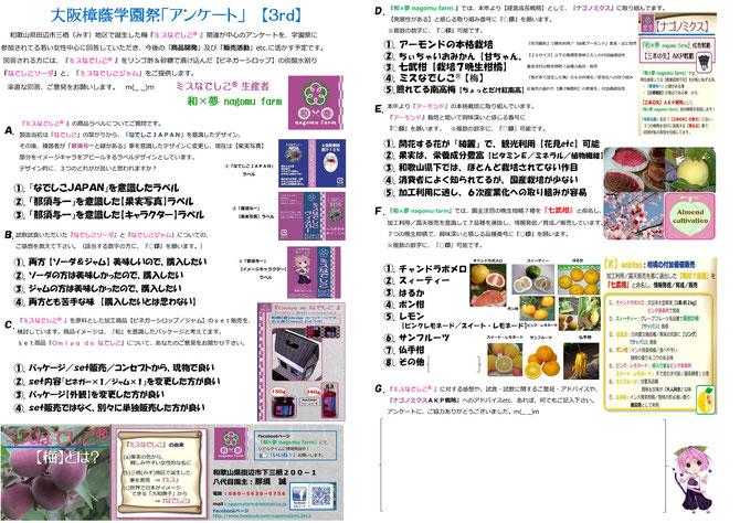 くすのき祭 アンケート【3rd】