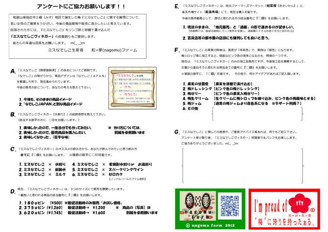 くすのき祭 アンケート【1st】