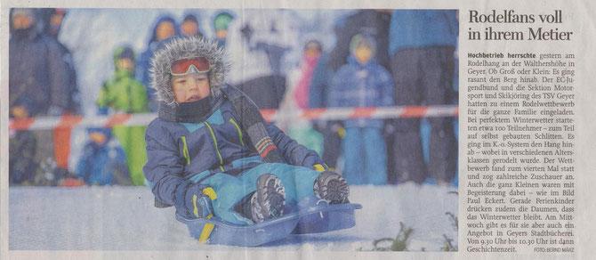 aus Freie Presse - Annaberger Zeitung, Montag 9. Februar 2015