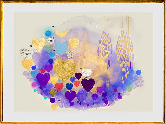 """ Hearts Lilac 2 "" by Roland Carlos 2017"