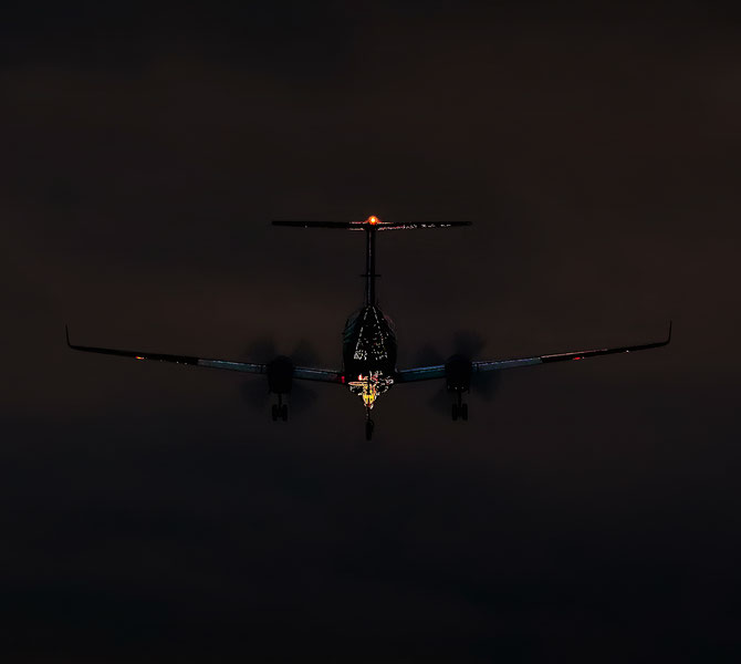 """ Night Flight "" Photograph"