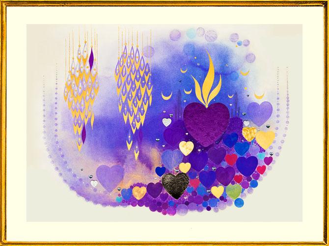 """ Hearts Lilac 1 "" by Roland Carlos 2017"