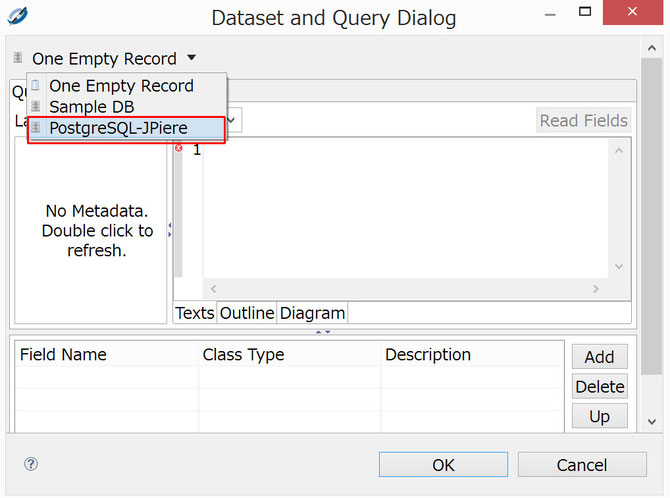 Dataset and Query Dialog