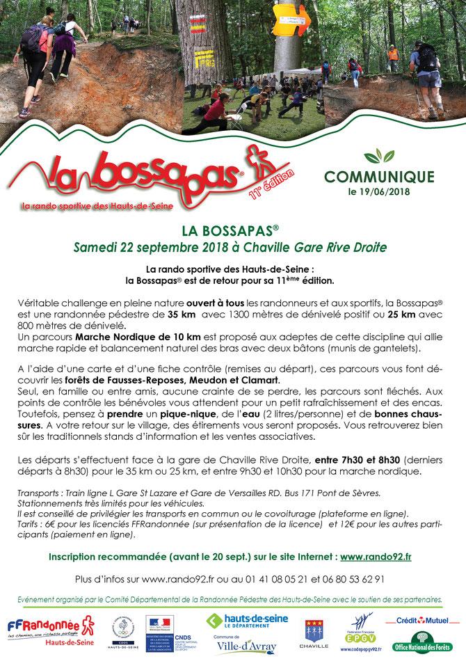 Communiqué La Bossapas 2018