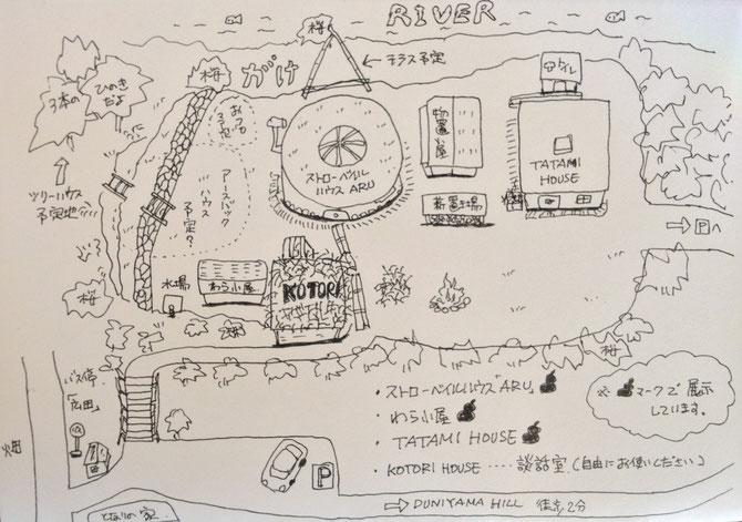 2013年1月「ひょうたんランプcosmos」展 Map