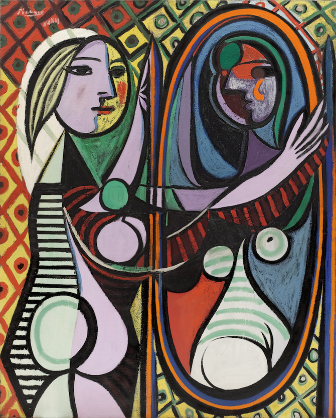 パブロ・ピカソ「鏡の前の少女」(1932年)