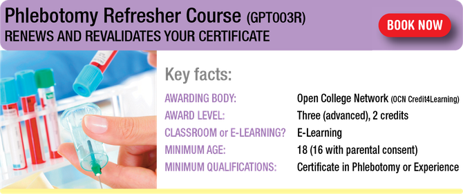 Phlebotomy Refresher Course (GPT003R) - Geopace Training ...