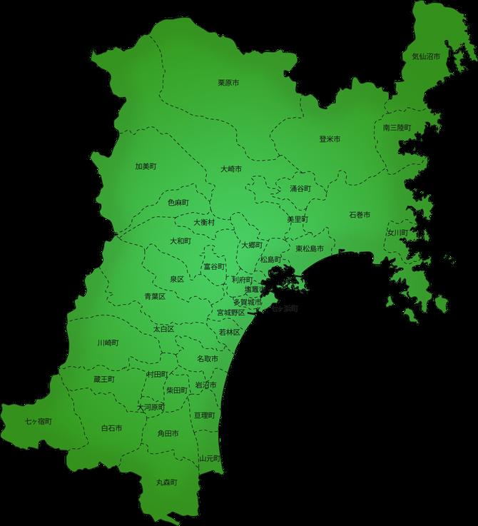 宮城県市町村地図