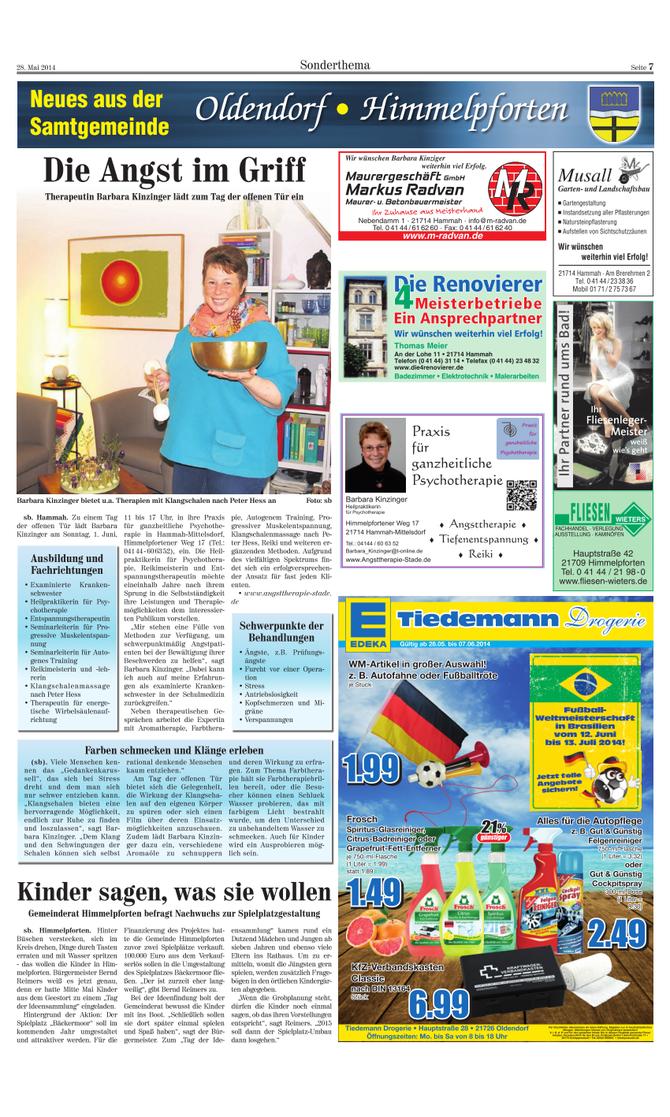 Kreiszeitung vom 28.05.2014