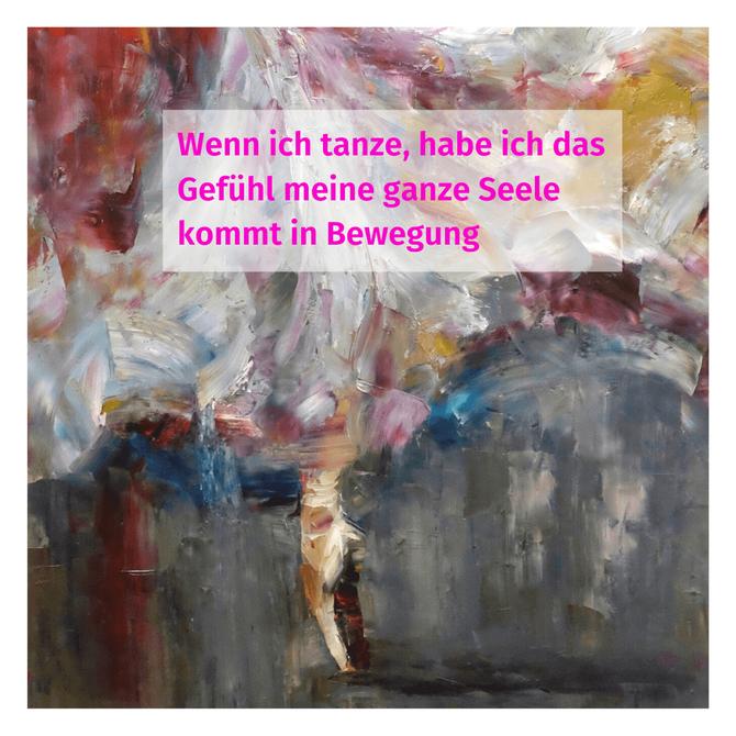 """""""Wenn ich tanze, habe ich das Gefühl, meine ganze Seele kommt in Bewegung.""""  - Ausschnitt aus """"Fullmoon"""" von Künstler Nguyen Tho Hieu"""