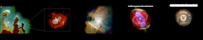Les 1eres étapes de la formation du système solaire. Source: wikipédia. Cliquer sur l'image pour l'agrandir.