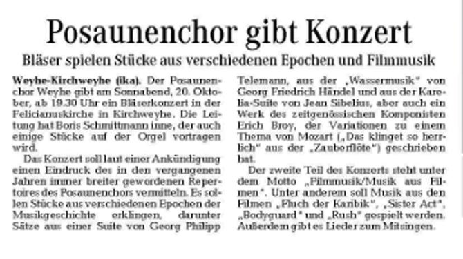 Weser-Kurier vo, 13. 10. 2012