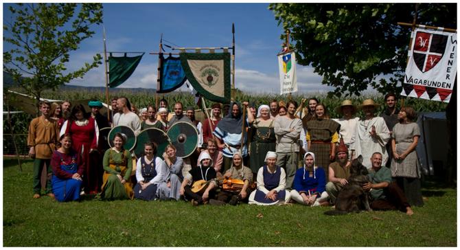 Lagergruppen: Vidarrs Schild, Bjergfolk, South Styrian Celtics, Wiener Vagabunden, Freypack mit Delegation Sapere Aude, Keltengruppe Teuta Isarno