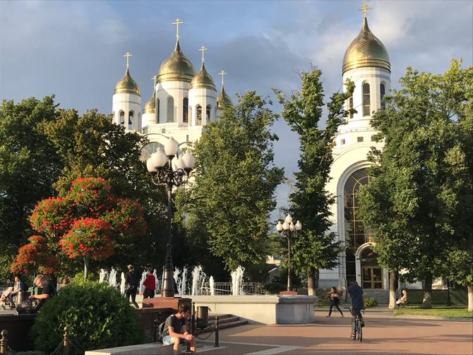 Die Christ-Erlöser-Kathedrale der russisch-orthodoxen Kaliningrader Kirche