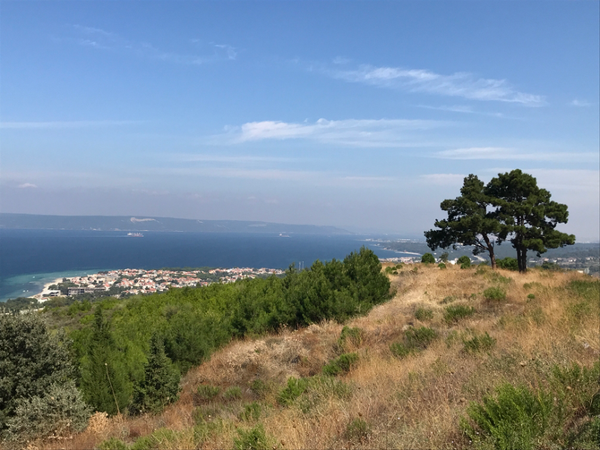 Blick auf die Dardanellen kurz vor Çanakkale