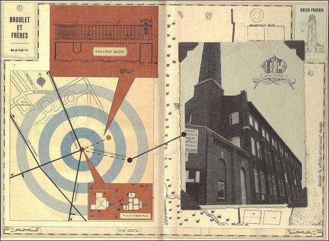 Un mapa de la localización de los diversos lugares entre ellos. Observamos que en el libro, la Ermita está cerca de la Academia Kadic.