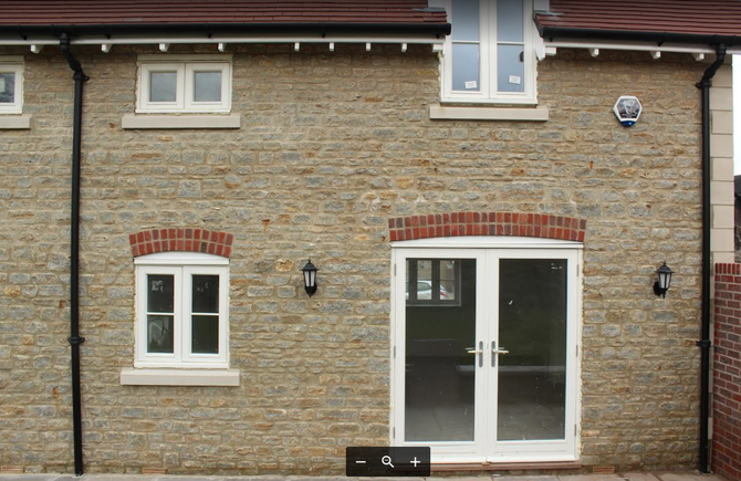 Natural building stone in new build adding interest and value to the property