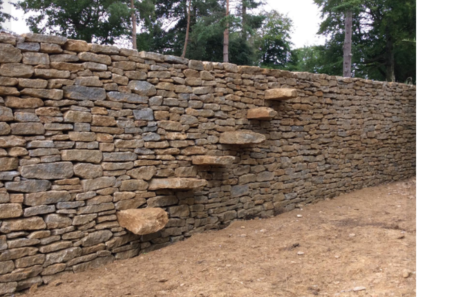 Escape route, stone steps - Dry stone walling