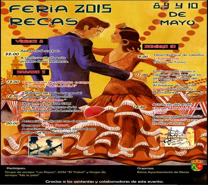 Programa y cartel de la Feria de Abril de Recas 2015
