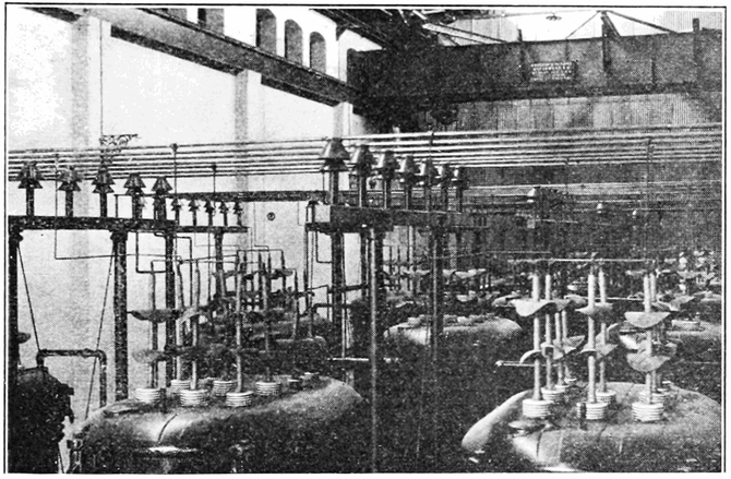 Step up transformer plant of the Niagara Power Company Canada. 1908