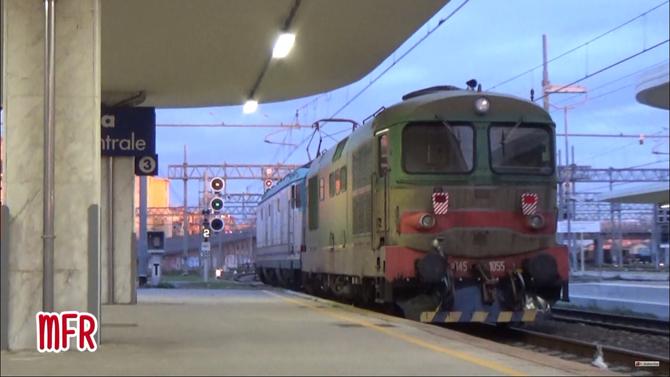 """""""E632.016 traina il D345.1055 da ALESSANDRIA a LIVORNO C.LE alla stazione di PISA C.LE."""": guarda il video!"""