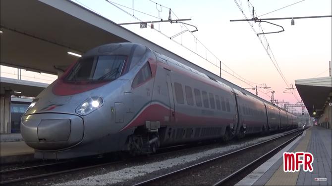 """""""L' ETR 600 FRECCIARGENTO arriva a PISA CENTRALE: ETR 600.12 effettua il FIUMICINO - GENOVA e vv."""": guarda il video!"""