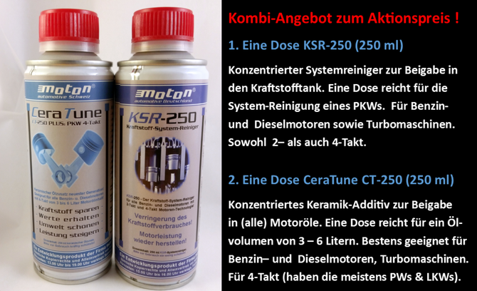 Kombi - Angebot 1 Dose KSR-250 und 1 Dose CEraTune CT-250 PLUS