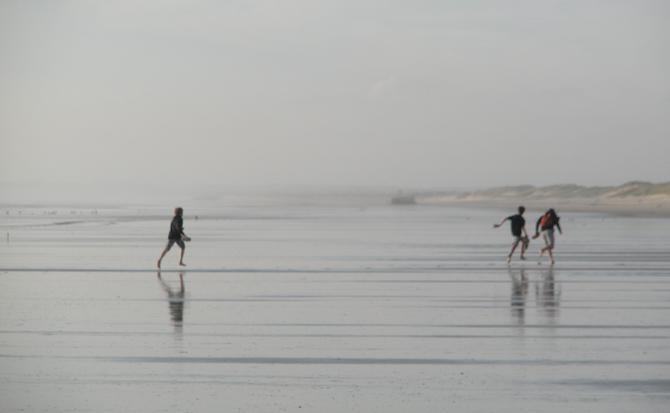 Reflektionen auf dem Meeresboden