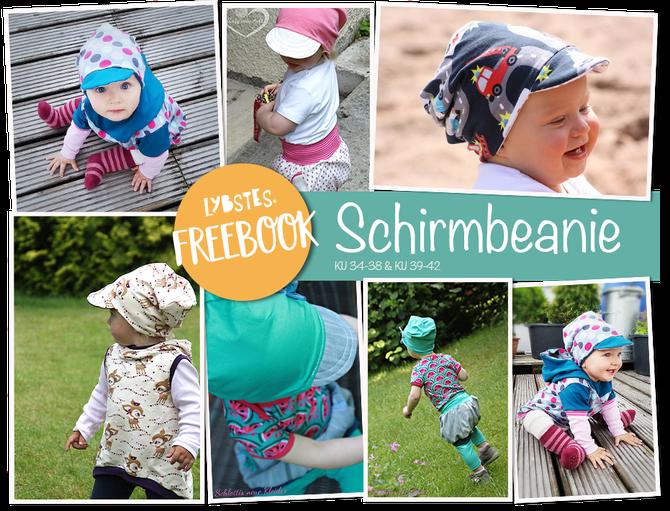 Beanie Freebook - Sommermütze! Beanie mit Schirm als Lybstes. Freebook