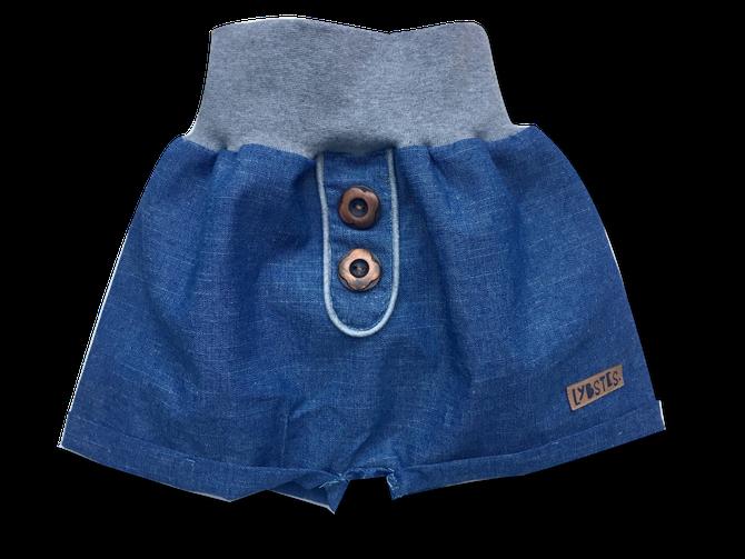 Lybstes Freebook kurze Pumphose: Extras, Fake-Knopfleiste und aufgesetzte Taschen nähen