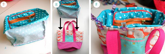 Lybstes Kidstasche FREEBOOK, Kindergartentasche selbst nähen, Mädchentasche in Pink nähen