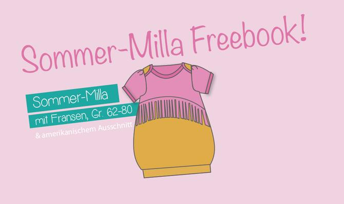 Lybstes Ballonkleid Sommer-Milla als Freebook, Schnittmuster umsonst nähen