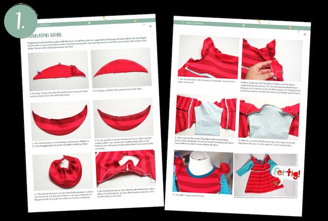 Lybstes Freebie: Schnittmuster umsonst downloaden und Flügelärmel nähen, Schritt für Schritt Anleitung