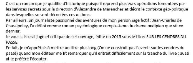 MAIL de  Françoise HAFFRAY Dimanche 19 Février 2017 -   11h24