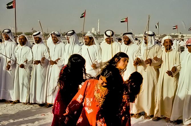 AVRIL 1979.  NOCES SHEIKH MOHAMED ET SHEIKHA HIND AL MAKTOUM. LIESSE  POPULAIRE.