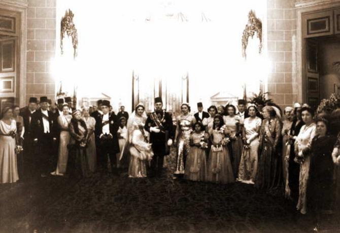 20 JANVIER 1938. MARIAGE DU ROI FAROUK 1er AVEC LA REINE FADILA