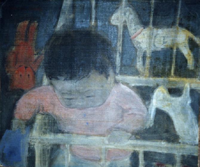 1941. PORTRAIT DE MICHEL VU - MICHOU -, AUTEUR DE LA BIOGRAPHIE DE SON PAPA VU CAO DAM. C* YANNICK VU JAKOBER
